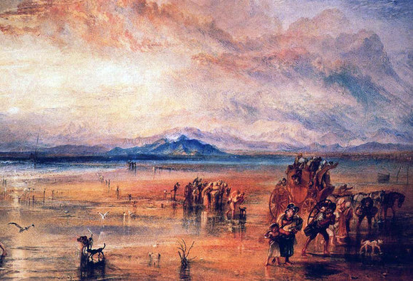 Joseph William Turner Lancaster Sands - Canvas Art Print