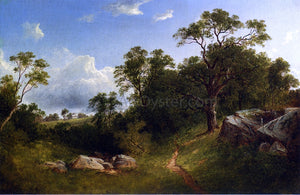 David Johnson Landscape (also known as White Mansion in the Distance) - Canvas Art Print