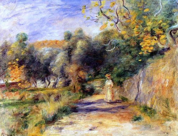 Pierre Auguste Renoir Landscape at Cagnes - Canvas Art Print