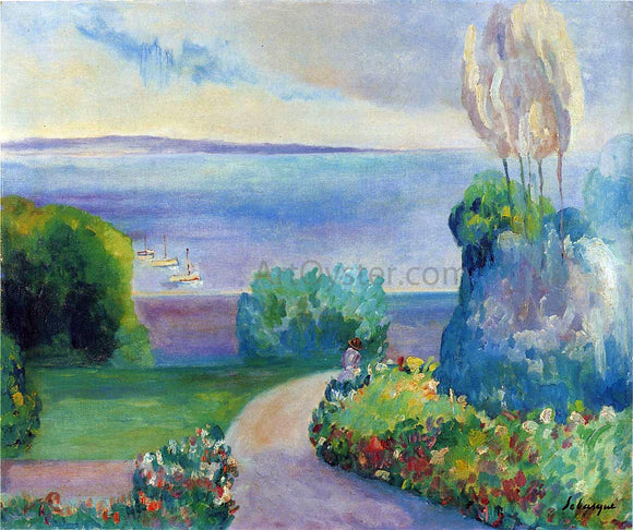 Henri Lebasque Landscape at Prefailles - Canvas Art Print