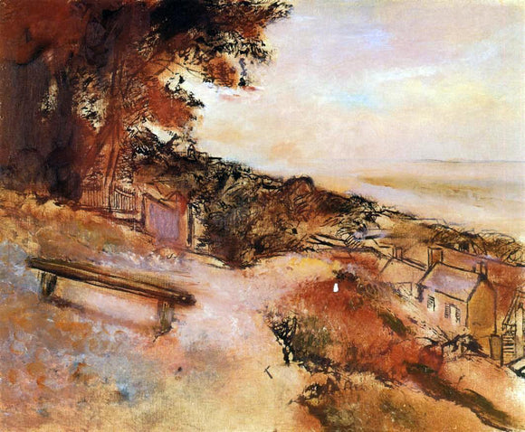 Edgar Degas Landscape by the Sea - Canvas Art Print