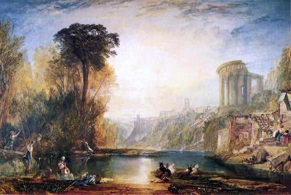 Joseph William Turner Landscape: Composition of Tivoli - Canvas Art Print