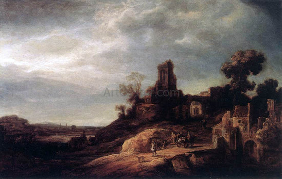 Govert Teunisz Flinck Landscape - Canvas Art Print