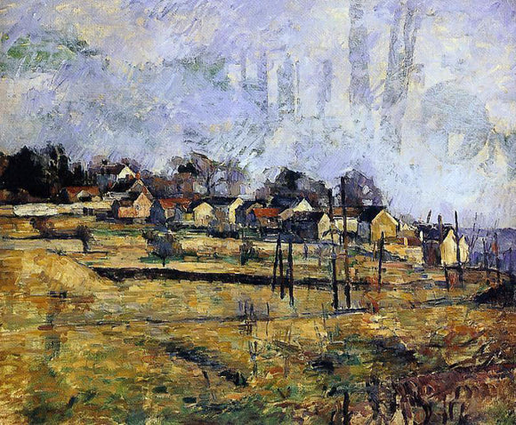 Paul Cezanne Landscape - Canvas Art Print