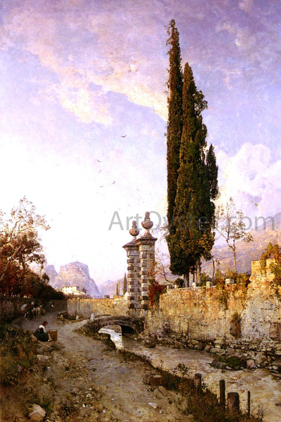 Robert Russ Landscape In Northern Italy - Canvas Art Print