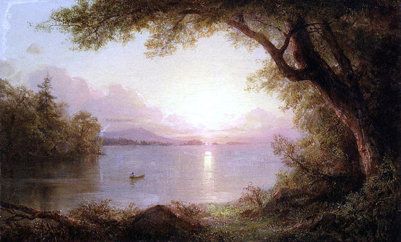 Frederic Edwin Church Landscape in the Adirondacks - Canvas Art Print