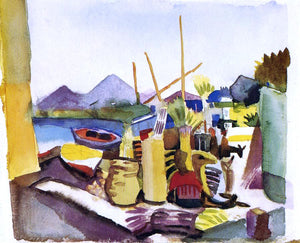 August Macke Landscape near Hammamet - Canvas Art Print