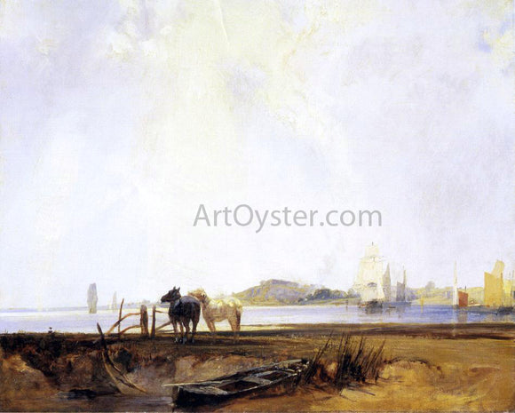 Richard Parkes Bonington Landscape near Quilleboeuf - Canvas Art Print