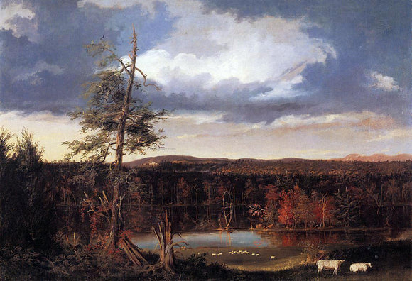 Thomas Cole Landscape, the Seat of Mr. Featherstonhaugh in the Distance - Canvas Art Print