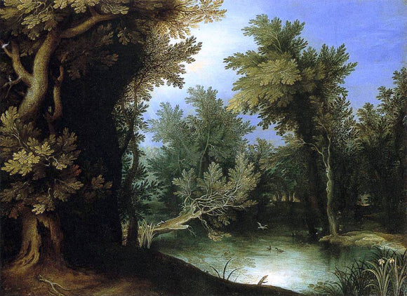 Paul Bril Landscape with a Marsh - Canvas Art Print