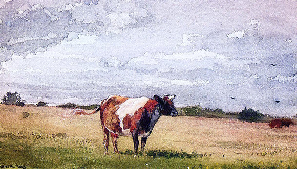Winslow Homer A Landscape with Cow - Canvas Art Print