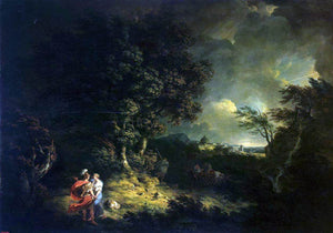 Thomas Jones Landscape with Dido and Aeneas - Canvas Art Print