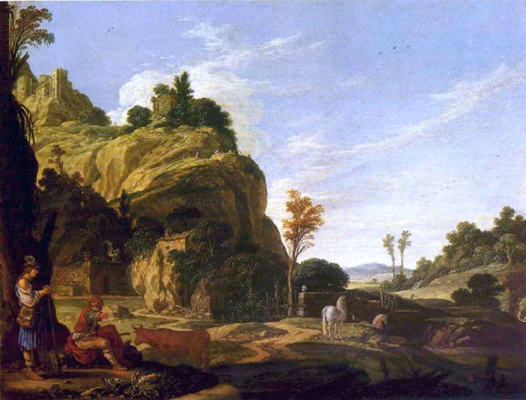 Jacob Pynas Landscape with Mercury and Battus - Canvas Art Print