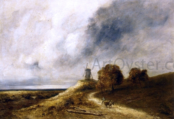 Georges Michel Landscape with Mill - Canvas Art Print