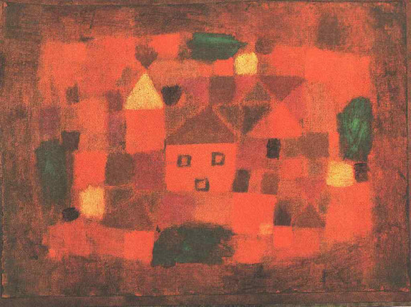 Paul Klee Landscape with Sunset - Canvas Art Print