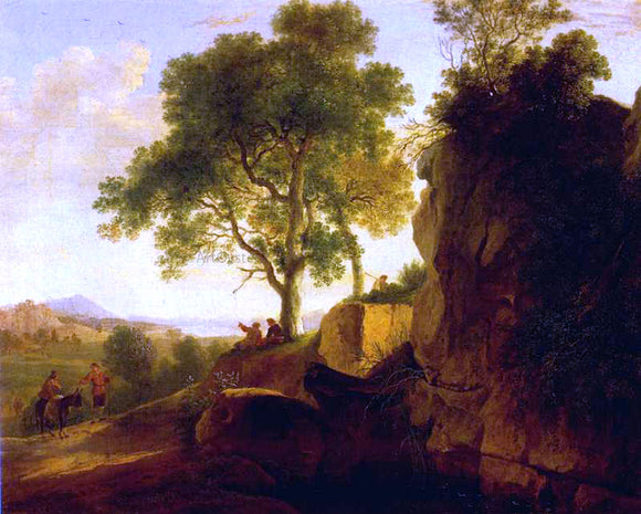 Herman Van Swanevelt Landscape with Tall Rocks - Canvas Art Print
