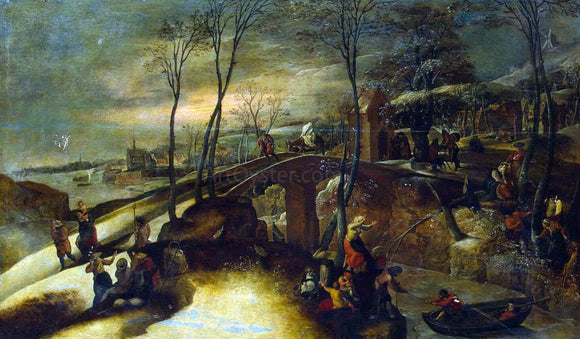 Gillis Mostaert Landscape with the Flight into Egypt - Canvas Art Print