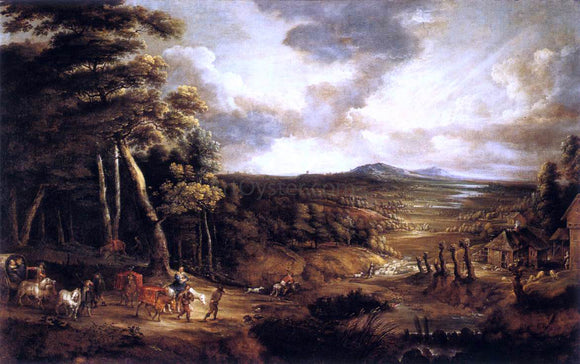 Lucas Van Uden Landscape with the Flight into Egypt - Canvas Art Print
