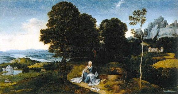 Joachim Patenier Landscape with the Flight into Egypt - Canvas Art Print