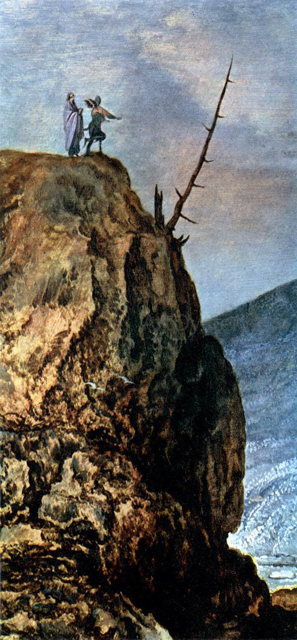 Joos De Momper Landscape with the Temptation of Christ (detail) - Canvas Art Print