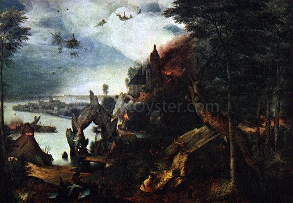The Elder Pieter Bruegel Landscape with the Temptation of Saint Anthony - Canvas Art Print