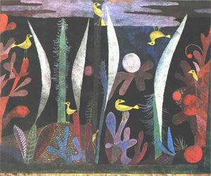 Paul Klee Landscape with Yellow Birds - Canvas Art Print