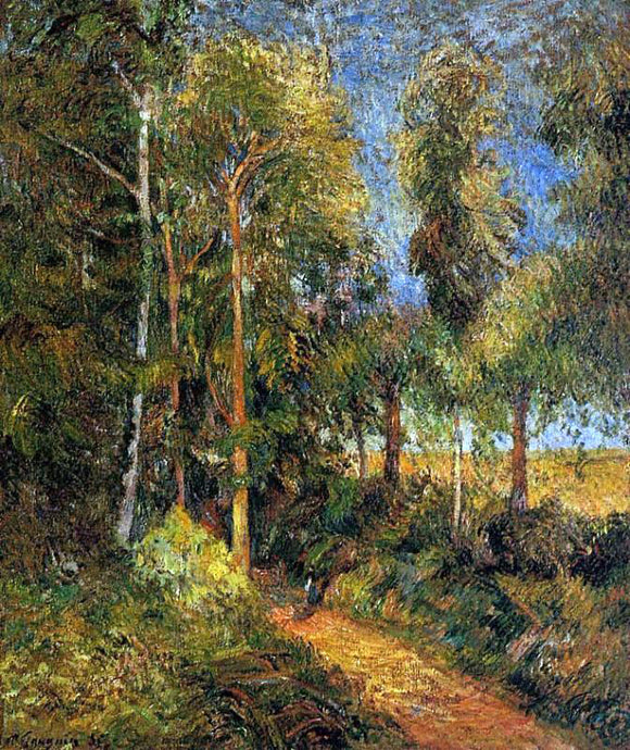 Paul Gauguin Lane through the Beaches - Canvas Art Print