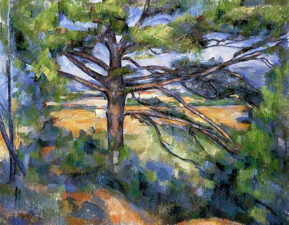 Paul Cezanne Large Pine and Red Earth - Canvas Art Print