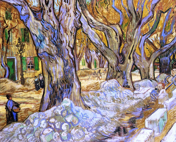 Vincent Van Gogh Large Plane Trees - Canvas Art Print