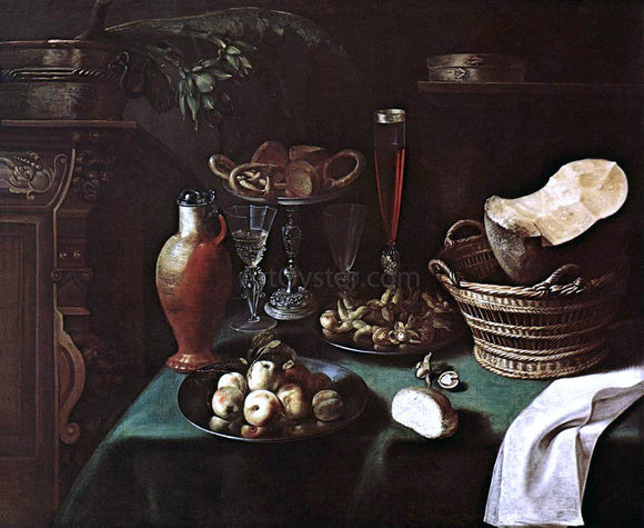 Sebastien Stoskopff Large Still-Life - Canvas Art Print