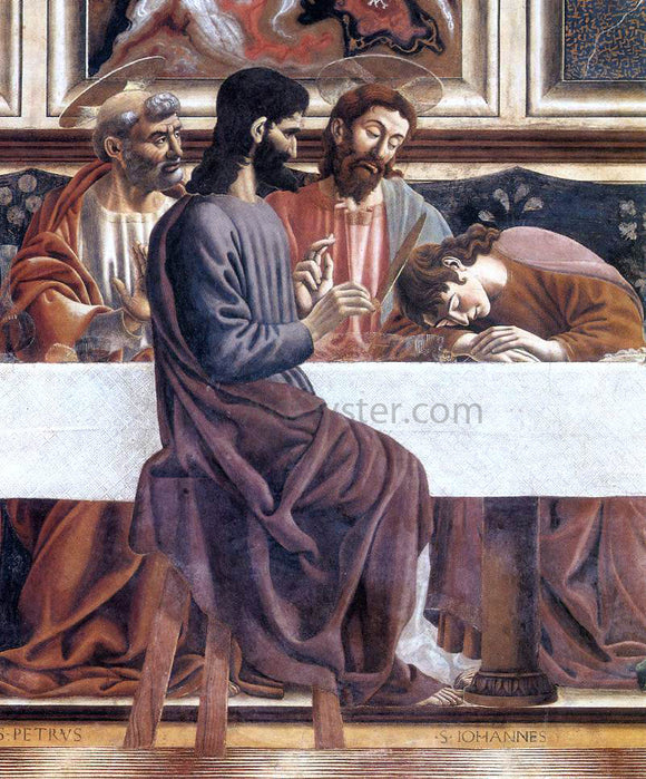Andrea del Castagno Last Supper (detail) - Canvas Art Print