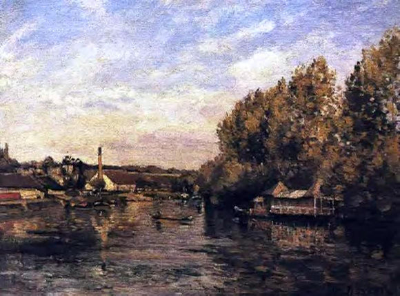 Camille Pissarro Le Grenouillere at Bougival - Canvas Art Print