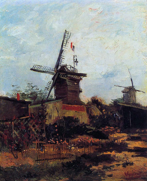 Vincent Van Gogh Le Moulin de Blute-Fin - Canvas Art Print