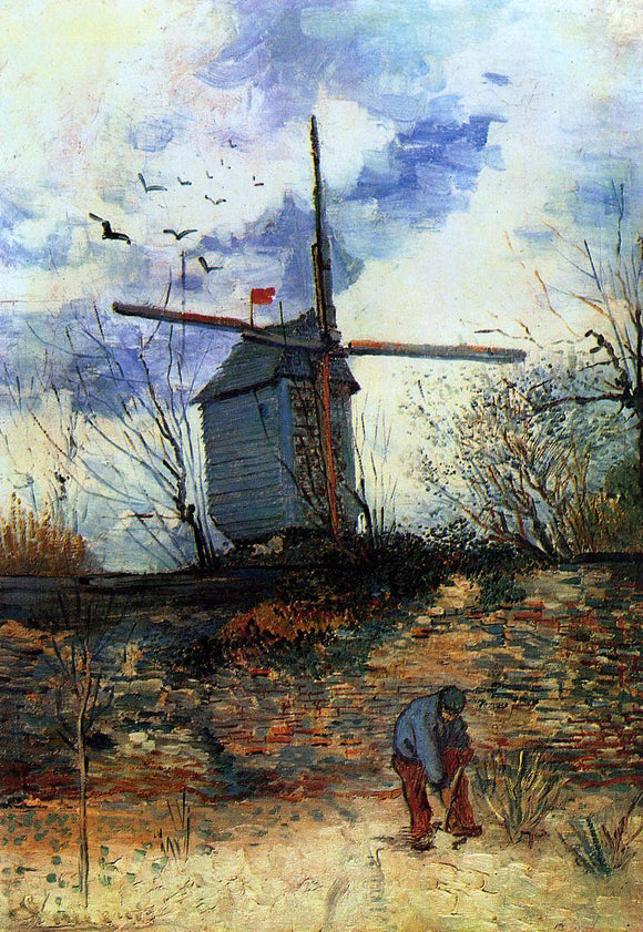 Vincent Van Gogh Le Moulin de la Galette - Canvas Art Print