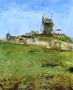 Vincent Van Gogh Le Moulin de la Gallet - Canvas Art Print