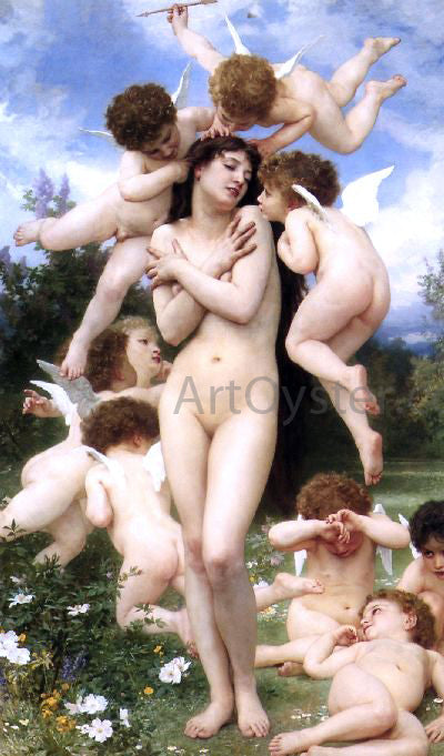 William Adolphe Bouguereau Le Printemps (also known as The Return of Spring) - Canvas Art Print