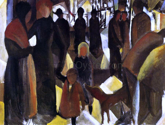 August Macke Leave-taking - Canvas Art Print