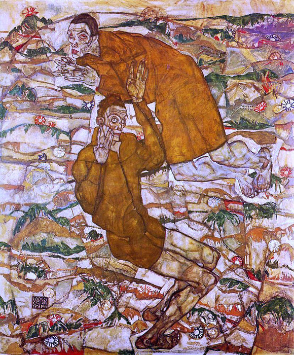 Egon Schiele Levitation - Canvas Art Print