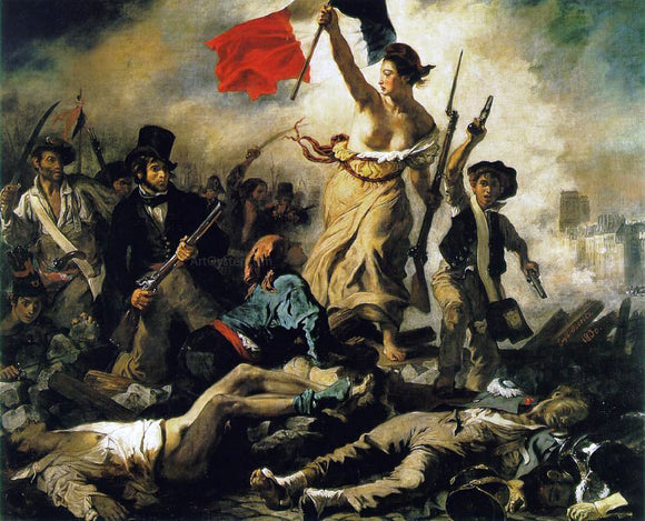 Eugene Delacroix Liberty Leading the People - Canvas Art Print