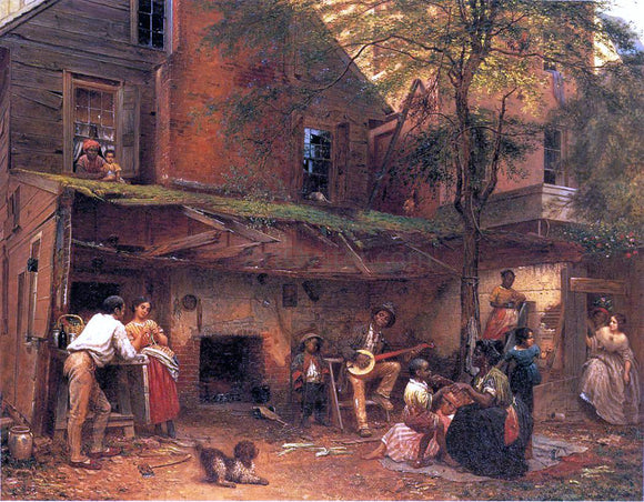 Eastman Johnson Life in the South (also known as My Old Kentucky Home) - Canvas Art Print