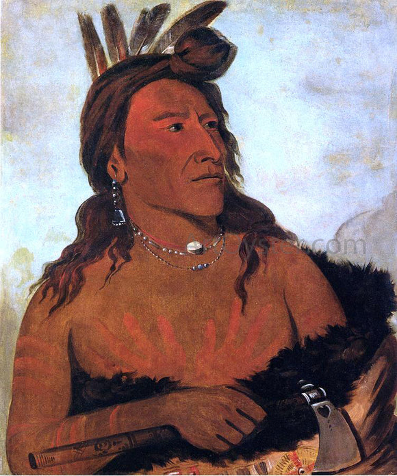 George Catlin Little Bear, Hunkpapa Brave - Canvas Art Print