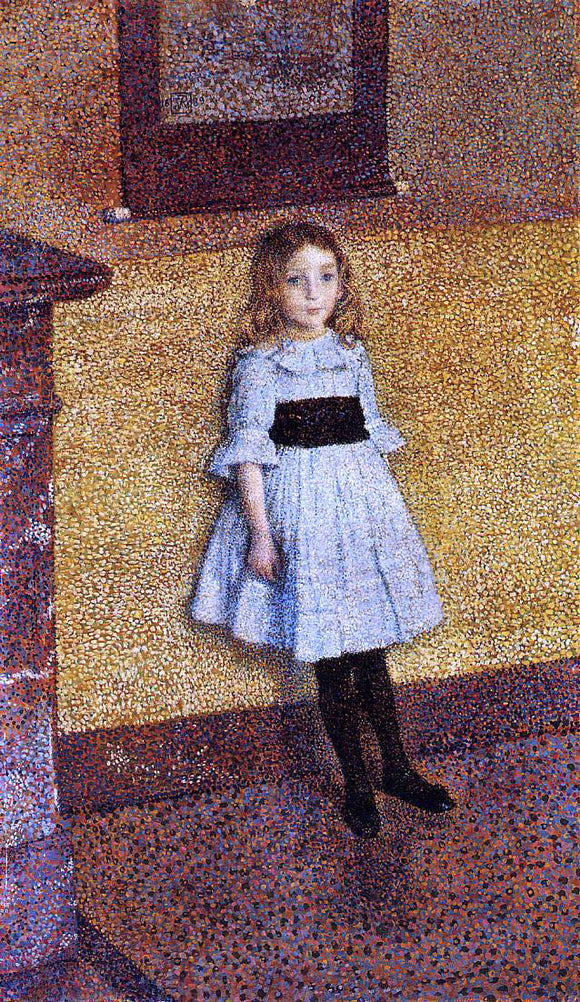 Theo Van Rysselberghe Little Denise - Canvas Art Print