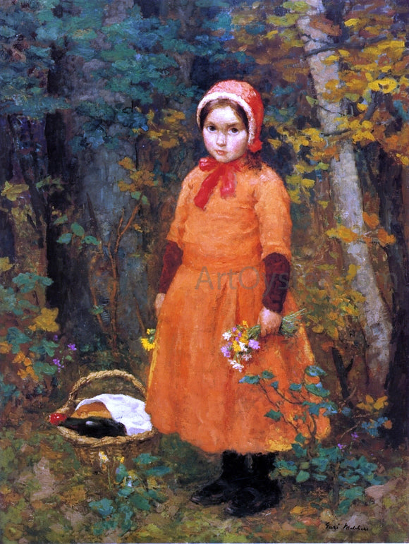 Gari Melchers Little Red Riding Hood - Canvas Art Print
