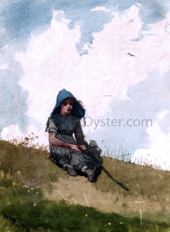 Winslow Homer Little Shepherdess - Canvas Art Print
