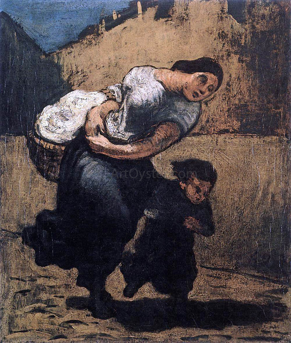 Honore Daumier Load (Washerwoman) - Canvas Art Print