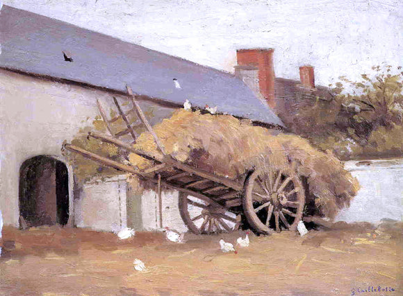 Gustave Caillebotte A Loaded Haycart - Canvas Art Print