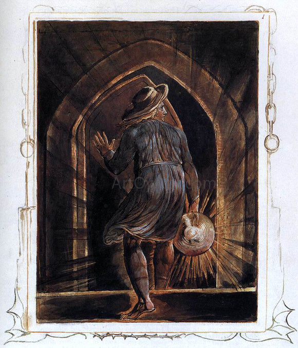 William Blake Los Entering the Grave - Canvas Art Print
