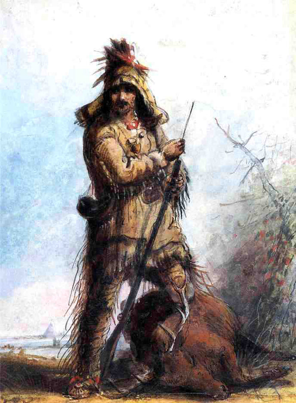 Alfred Jacob Miller Louis - Rocky Mountain Trapper - Canvas Art Print