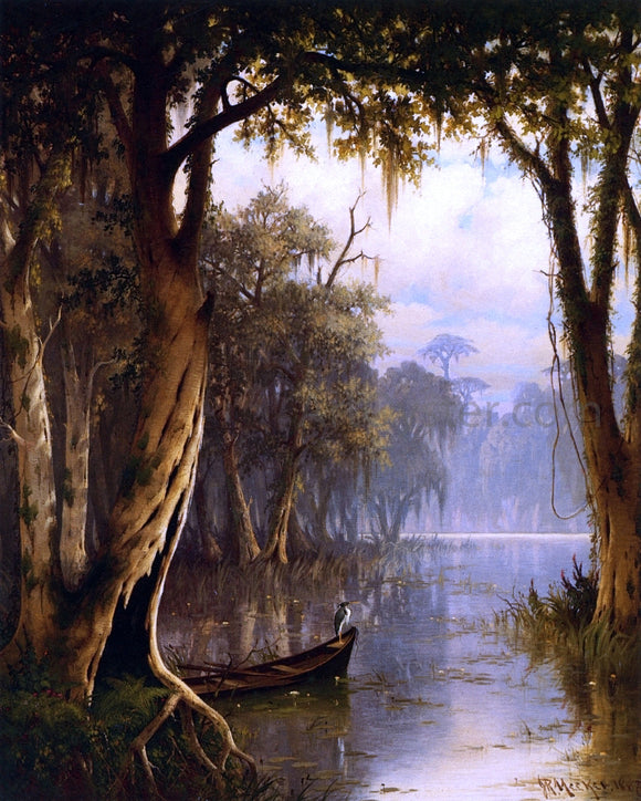Joseph R Meeker Louisiana Bayou - Canvas Art Print