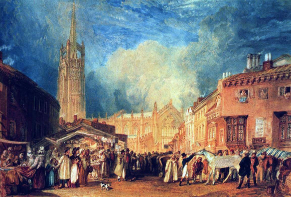 Joseph William Turner Louth, Lincolnshire - Canvas Art Print